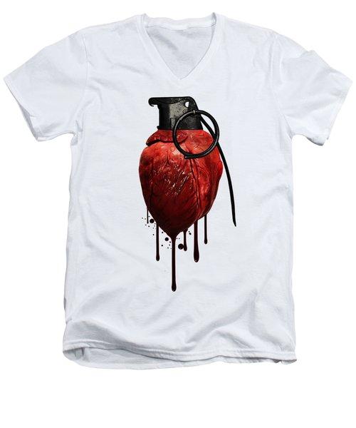 Heart Grenade Men's V-Neck T-Shirt