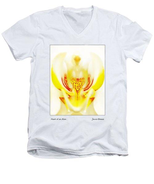 Heart Of An Alien Men's V-Neck T-Shirt by Jennie Breeze