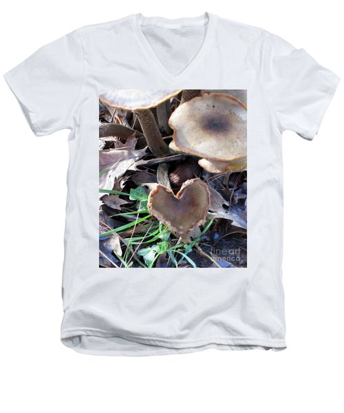 Men's V-Neck T-Shirt featuring the photograph Heart Of The Matter Smaller Pic by Marie Neder