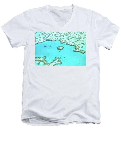 Heart Of The Reef Men's V-Neck T-Shirt by Az Jackson