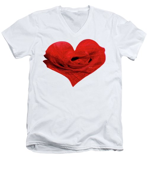 Heart Sketch Men's V-Neck T-Shirt