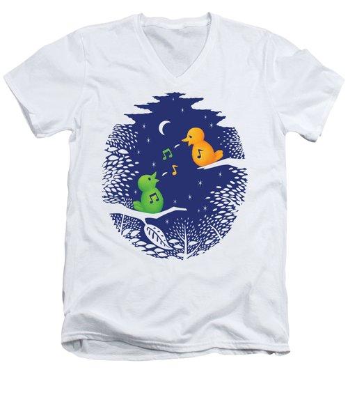 Men's V-Neck T-Shirt featuring the digital art Heart Song by Ben Hartnett