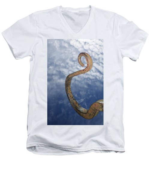 Heavenly Sky Hook Men's V-Neck T-Shirt