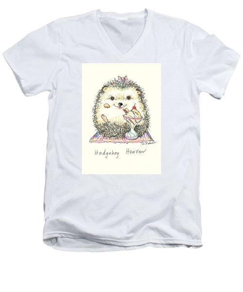 Hedgehog Heaven Men's V-Neck T-Shirt