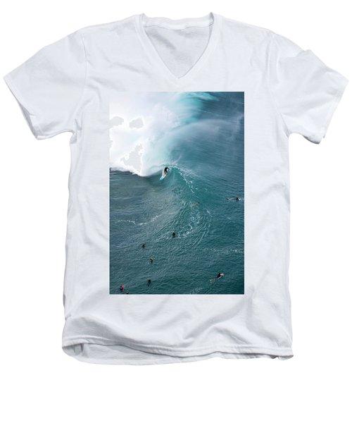 Tubed From Above. Men's V-Neck T-Shirt