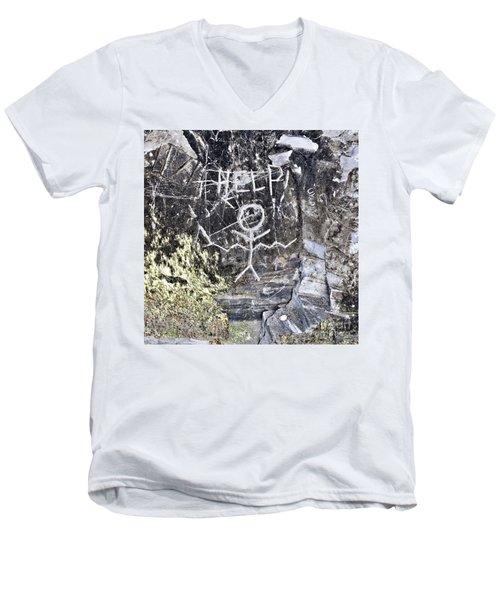 Help Men's V-Neck T-Shirt