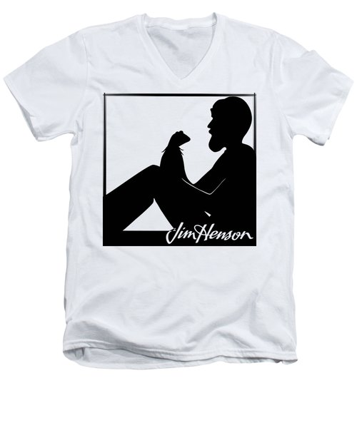 Henson's Moment Men's V-Neck T-Shirt by Jennifer Westlake
