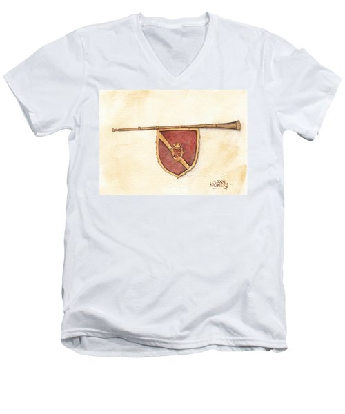 Heraldry Trumpet Men's V-Neck T-Shirt