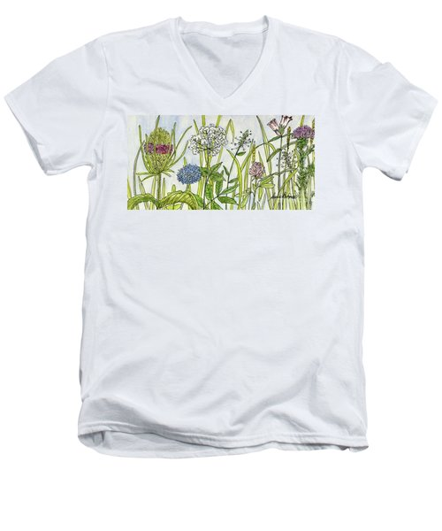 Herbs And Flowers Men's V-Neck T-Shirt