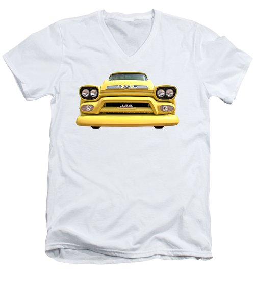 Here Comes The Sun - Gmc 100 Pickup 1958 Men's V-Neck T-Shirt