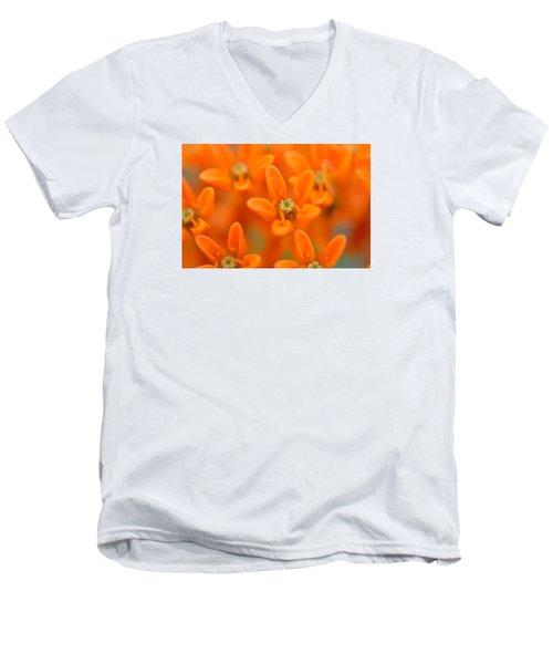 Here Men's V-Neck T-Shirt by Janet Rockburn