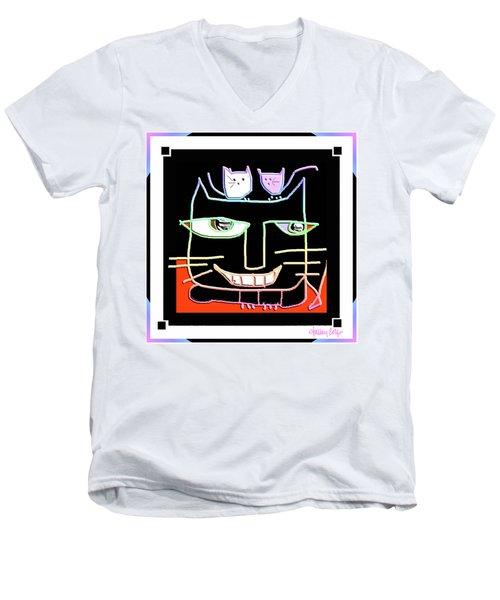 Here,  Kitty Kitty Men's V-Neck T-Shirt