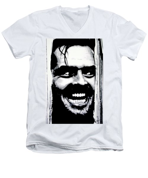 Heres Johnny Men's V-Neck T-Shirt