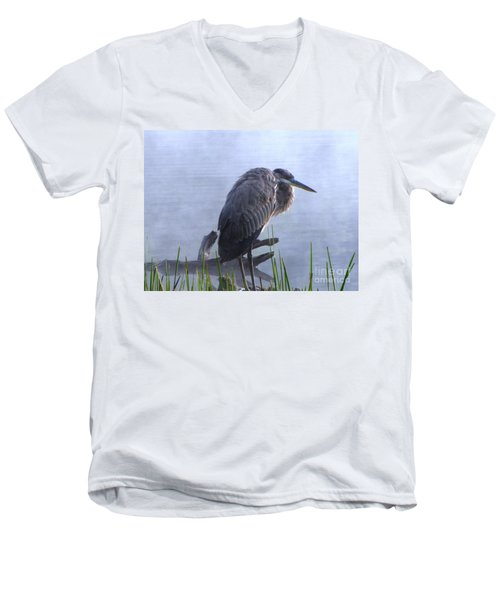 Heron 5 Men's V-Neck T-Shirt