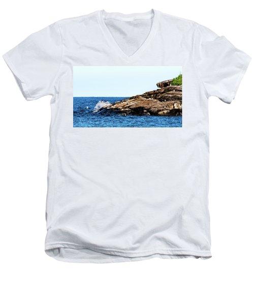 Herring Gull Picnic Men's V-Neck T-Shirt
