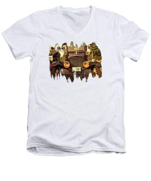 Hey A Model T Ford Truck Men's V-Neck T-Shirt
