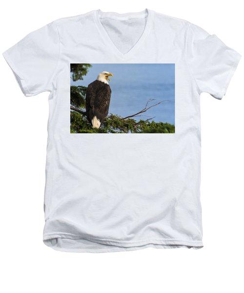 Hey Men's V-Neck T-Shirt