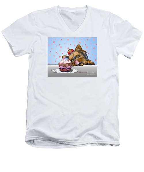 Hey There Cupcake Men's V-Neck T-Shirt by Catia Cho