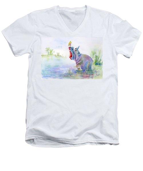 Hey Whats The Big Idea Men's V-Neck T-Shirt by Amy Kirkpatrick