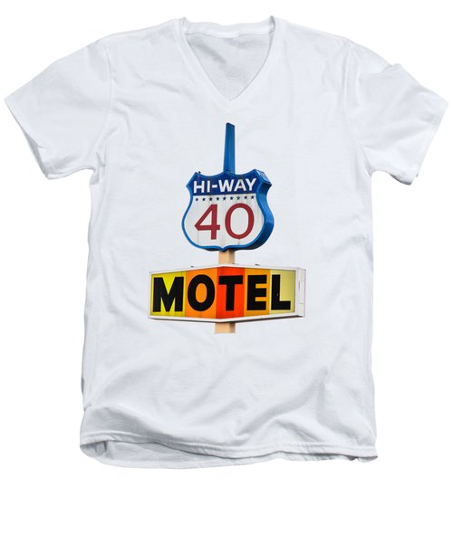 Hi-way 40 Motel Men's V-Neck T-Shirt