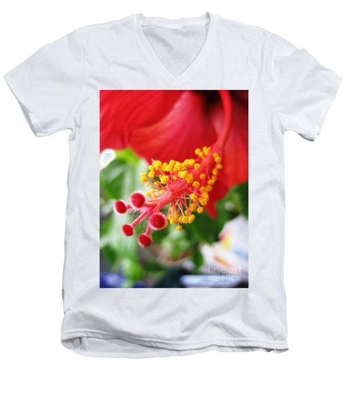 Hibiscus #3 Men's V-Neck T-Shirt