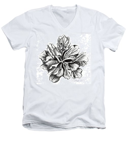 Hibiscus Bloom Men's V-Neck T-Shirt