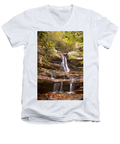 Hidden Falls Of Danbury, Nc Men's V-Neck T-Shirt