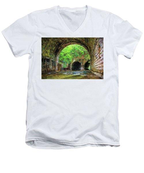 Men's V-Neck T-Shirt featuring the photograph Hidden Gem by Jim Lepard