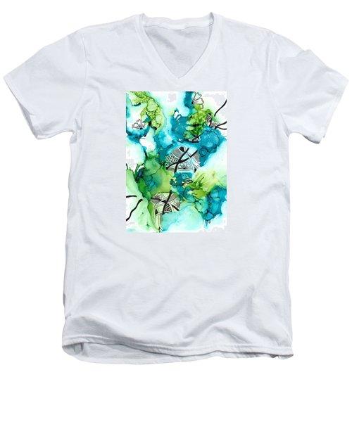 Hidden Treasure Men's V-Neck T-Shirt by Jan Steinle