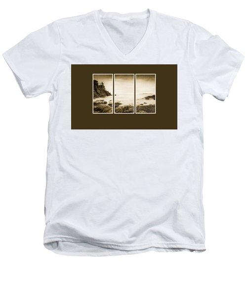 High Rock Triptych Men's V-Neck T-Shirt
