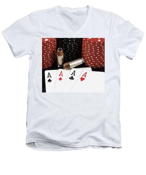High Stakes Poker Men's V-Neck T-Shirt