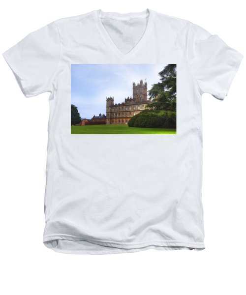 Highclere Castle Men's V-Neck T-Shirt
