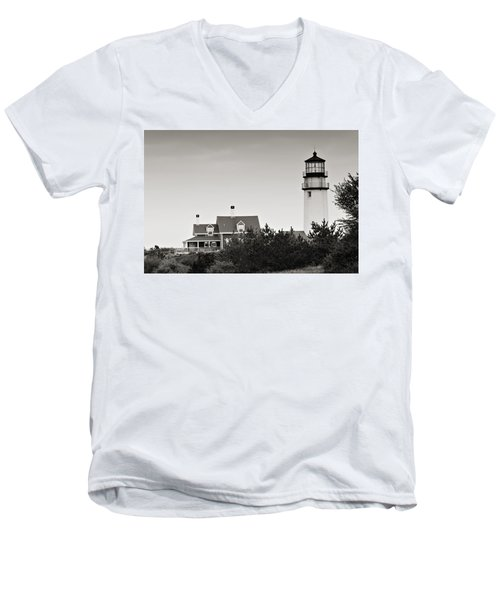 Highland Light At Cape Cod Men's V-Neck T-Shirt