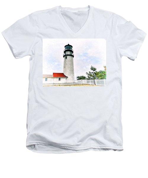 Highland Lighthouse Cape Cod Men's V-Neck T-Shirt