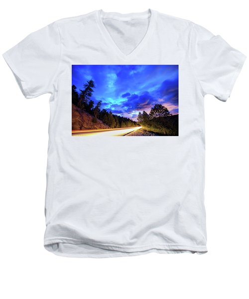 Highway 7 To Heaven Men's V-Neck T-Shirt by James BO Insogna
