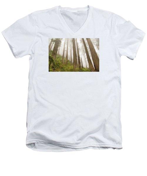 Hike Through The Redwoods Men's V-Neck T-Shirt