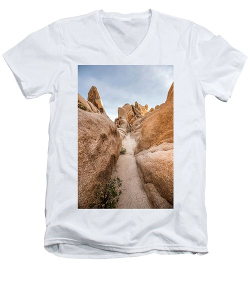 Hiking Trail In Joshua Tree National Park Men's V-Neck T-Shirt