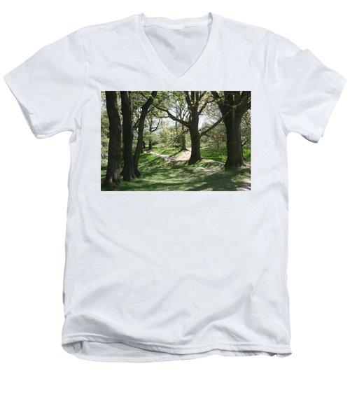 Hill 60 Cratered Landscape Men's V-Neck T-Shirt