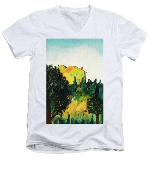 Hillside Romance Men's V-Neck T-Shirt