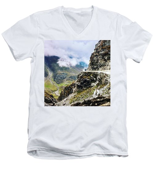 Himalayan Roads Are Good For Your Men's V-Neck T-Shirt