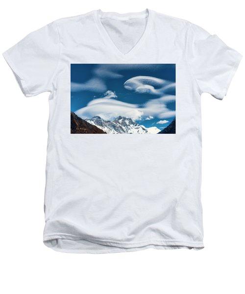 Himalayan Sky Men's V-Neck T-Shirt