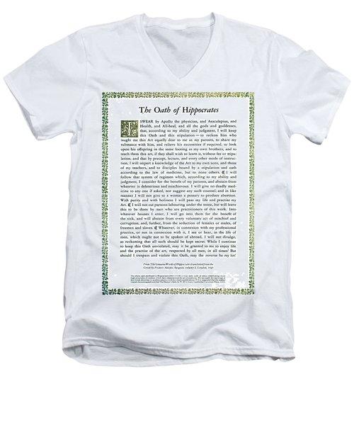 Hippocratic Oath, 1938 Men's V-Neck T-Shirt by Science Source