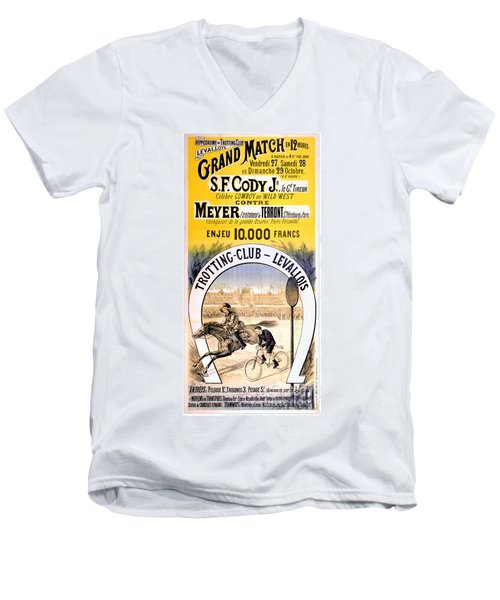 Hippodrome Du Trotting Club Levallois Men's V-Neck T-Shirt