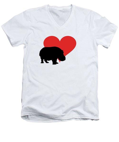 Hippopotamus Men's V-Neck T-Shirt