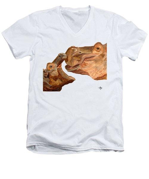 Hippos Men's V-Neck T-Shirt