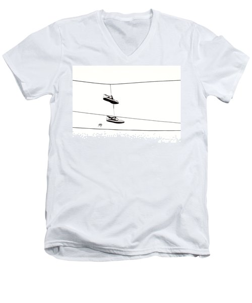 Men's V-Neck T-Shirt featuring the photograph His by Linda Hollis