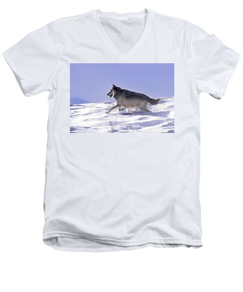 His Majesty Wolf 21m Men's V-Neck T-Shirt