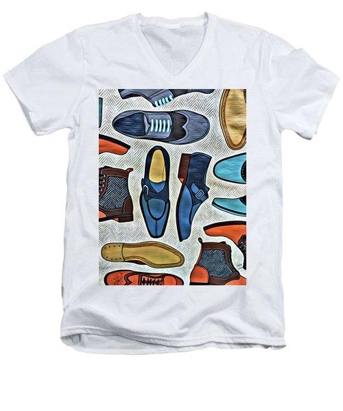His Shoes Men's V-Neck T-Shirt