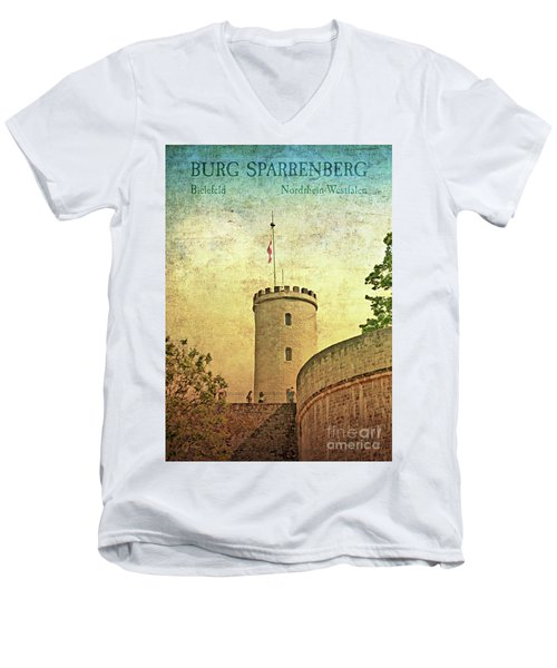 Historic Landmark Sparrenberg Castle Men's V-Neck T-Shirt