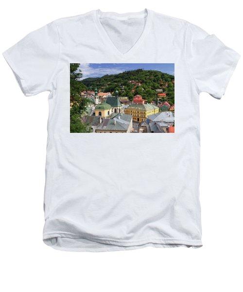 Historic Mining Town Banska Stiavnica, Slovakia Men's V-Neck T-Shirt